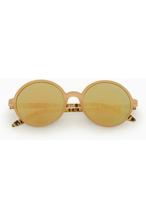 Zara Dziecko Okulary przeciwsłoneczne - Okulary przeciwsłoneczne w okrągłej oprawce w panterkę