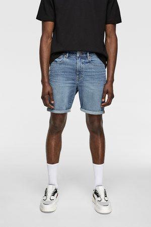 Zara Mężczyzna Szorty - Spodenki jeansowe z kolekcji basic