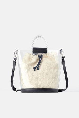 Zara Winylowa torba typu shopper