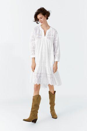 Zara Kozaki na obcasie w stylu kowbojskim z dwoiny z kolekcji join life