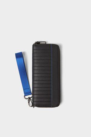 Zara Portfel xl z niebieskimi zdobieniami