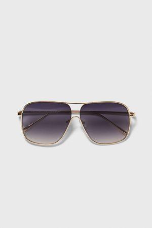 Zara Mężczyzna Okulary przeciwsłoneczne - Okulary przeciwsłoneczne w metalowej oprawce
