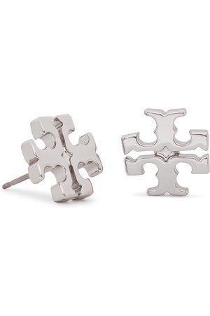 Tory Burch Kolczyki - Logo Stud Earring 11165504 Tory Silver 022