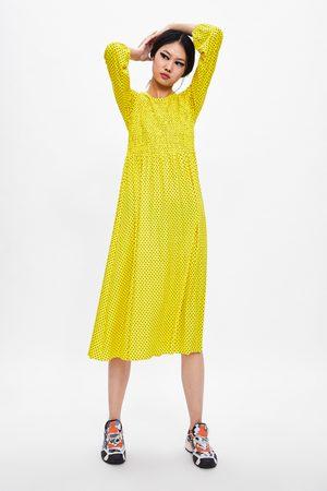 Zara Sukienka z nadrukiem w kropki