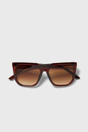 Zara Okulary przeciwsłoneczne w oprawce z tworzywa