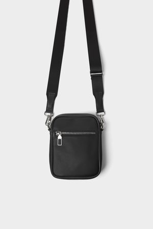 Zara Basic black mini crossbody bag