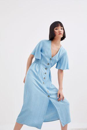 Zara Sukienka z guzikami
