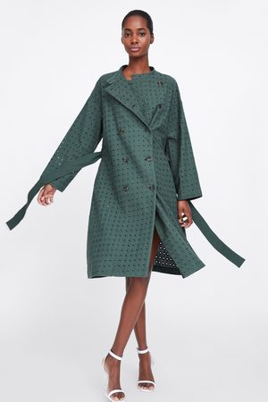 Zara Embroidered double-breasted trench coat