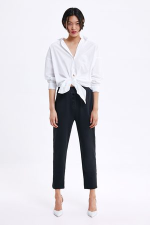 Zara Buttoned trousers with side stripes