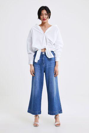 Zara Jeans zw premium marine culotte