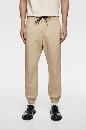 Zara Popelinowe spodnie joggery