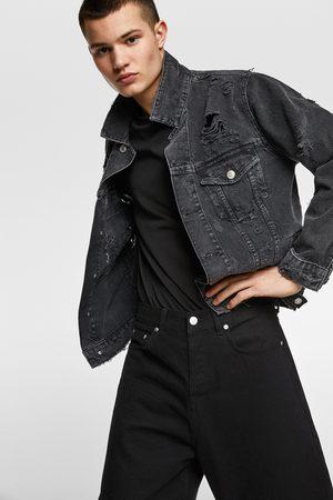 Zara Kurtka jeansowa z naszywkami