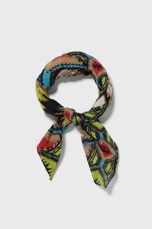 Zara Geometric print bandanna