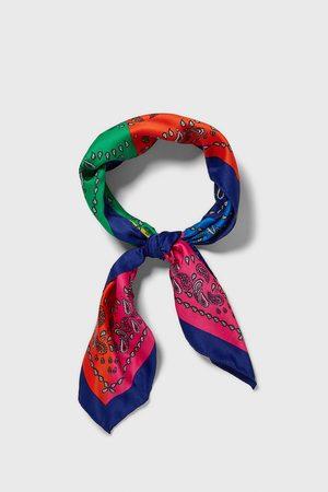 Zara Paisley colour block bandanna