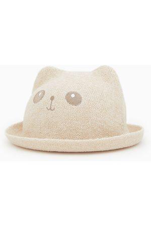 Zara Słomkowy kapelusz z uszami
