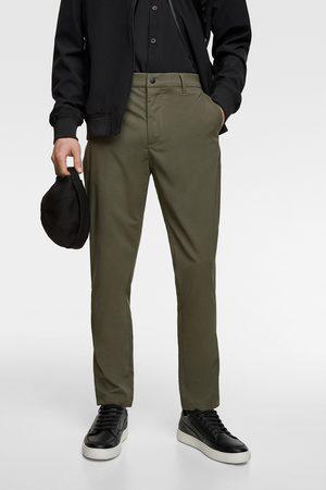 Zara Spodnie chinosy z tkaniny technicznej