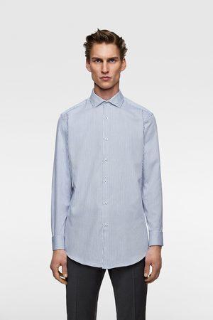 Zara Koszula z tkaniny strukturalnej typu easy care