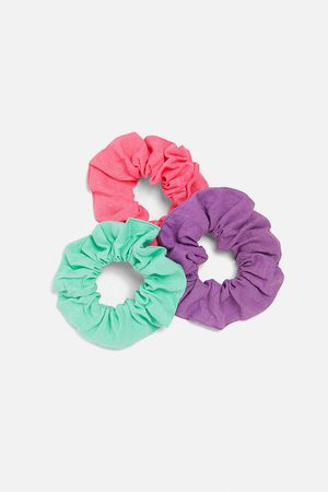 Zara Komplet 3 jednobarwnych gumek do włosów