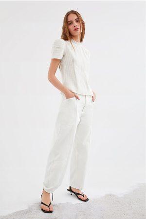 Zara Koszula z łączonych tkanin