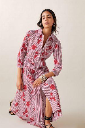 Zara Tunika w paski z haftem