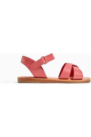 Zara Skórzane sandały z paskami