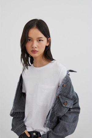 Zara Koszulka z kieszenią z kolekcji basic