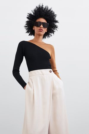 Zara Spodnie typu culotte z krzyżowanymi połami