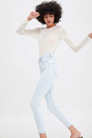 Zara Jegginsy rurki z wysokim stanem w stylu vintage