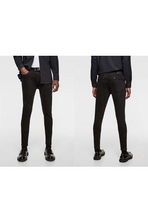 Zara Barwne mocno dopasowane spodnie jeansowe rurki