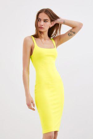 Zara Kobieta Sukienki - Sukienka o kroju ołówkowym na ramiączkach
