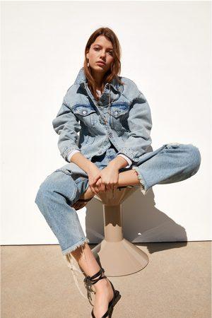 Zara Kurtka jeansowa oversize
