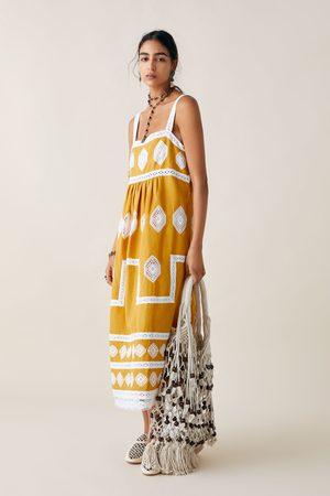 Zara Sukienka z haftem z limitowanej edycji z kolekcji studio