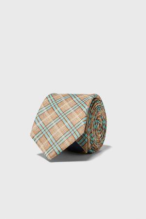 Zara Szeroki krawat w kratę