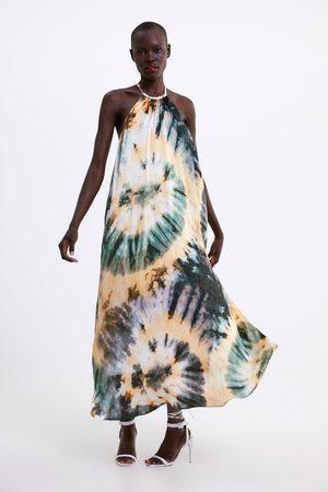 Zara Sukienka farbowana metodą tie & dye