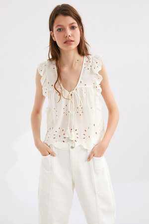 Zara Blouse with cutwork embroidery