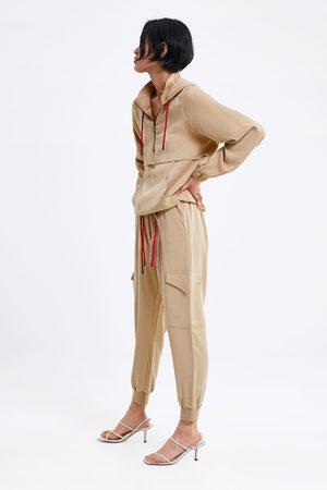 Zara Spodnie joggery typu cargo