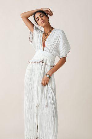 Zara Sukienka z kontrastowym lamowaniem z limitowanej edycji z kolekcji studio