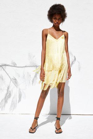 Zara Sukienka z frędzlami