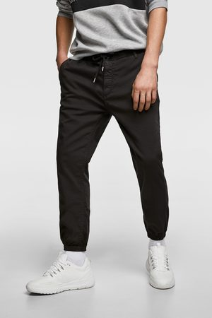 Zara Spodnie joggery z przyjemnej w dotyku tkaniny