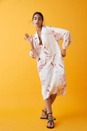 Zara Sukienka z nadrukiem z limitowanej edycji z kolekcji studio