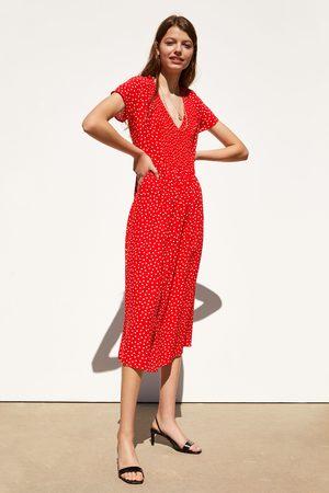 Zara Sukienka średniej długości w kropki
