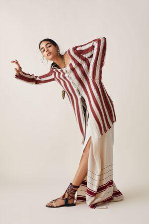 Zara Dwubarwny szydełkowy płaszcz z limitowanej edycji z kolekcji studio