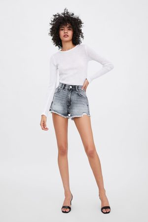 Zara Short denim mid rise