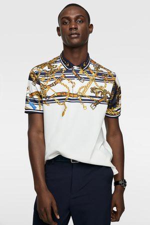 Koszulka polo z nadrukiem w stylu barokowym
