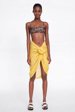 Zara Kobieta Bikini - Top od bikini w zwierzęcy deseń