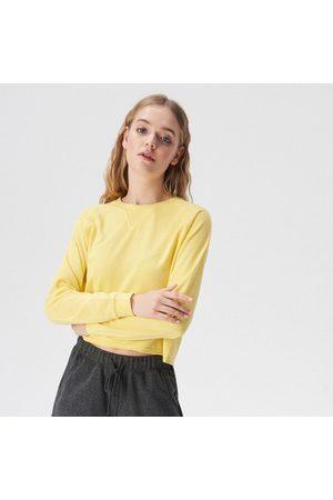 Sinsay Kobieta Bluzy - Krótka bluza basic