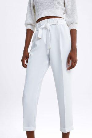 Zara Spodnie z paskiem