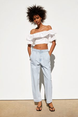 Zara Spodnie jeansowe z kieszeniami