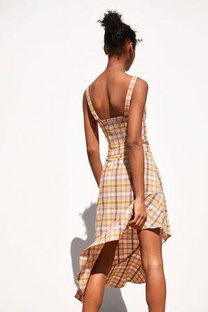 Zara Asymetryczna spódnica w kratę