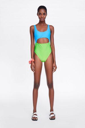 Zara Wielobarwny kostium kąpielowy